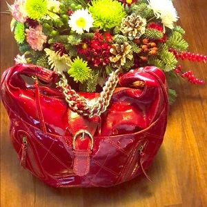 Marco Buggiani ❤️Genuine Red Patent Leather Bag❤️